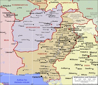 Our suicidal middle east policies take a look at the map of afghanistan it borders pakistan iran turkmenistan uzbekistan tajikistan and a tiny eastern tip borders china gumiabroncs Image collections