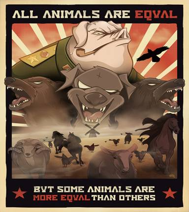 an analysis of the animal farm versus marxism a novel by george orwell George orwell's novel animal farm does an excellent job of drawing parallels from the situation leading up to the russian revolution of 1917 animal farm is a satire that uses its characters to symbolize leaders of the russian revolution .