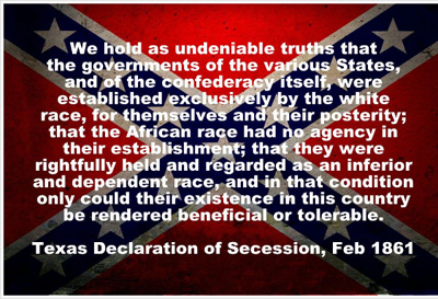 The Confederate flag & slavery: an inextricable marriage since 1861!